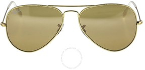 Ray-Ban Aviator Gradient Brown-Silver Mirror 55 mm Ladies Sunglasses