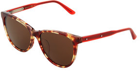 Bottega Veneta Two-Tone Round Plastic Sunglasses