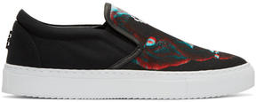 Marcelo Burlon County of Milan Black Betsy Slip-On Sneakers