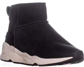 Ash Miko Side Zip Lined Ankle Boots , Black.