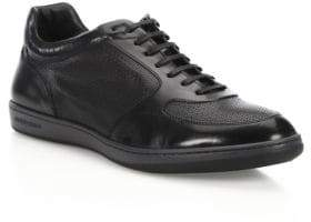Giorgio Armani Leather Low Top Sneakers