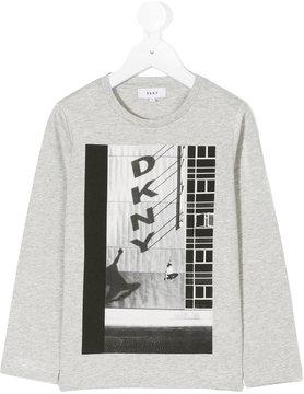 DKNY logo skateboard print top