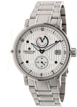 Heritor Leopold Mens Silver Tone Bracelet Watch-Herhr4701