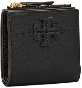 Tory Burch McGRAW MINI FOLDABLE WALLET - BLACK - STYLE