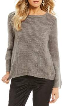 Armani Exchange Knit Bell Sleeve Pullover
