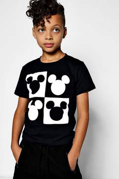 boohoo Boys Disney Mickey Head Squares Tee