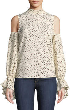 Bishop + Young Cold-Shoulder Ruffle-Trim Blouse