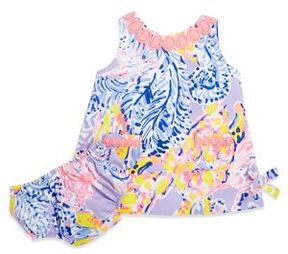 Lilly Pulitzer Baby's Printed Cotton Dress and Bloomers