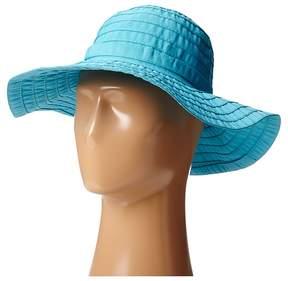 Scala Crushable Big Brim Ribbon Sun Hat Caps
