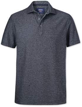 Charles Tyrwhitt Navy and White Stripe Cotton Polo Size XS