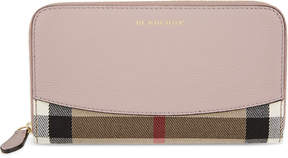Burberry House check leather continental wallet - PALE ORCHID - STYLE