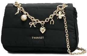 Twin-Set charm chain detail shoulder bag