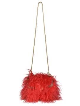 Dries Van Noten Fur Detailed Shoulder Bag