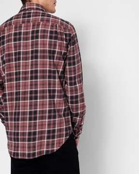 7 For All Mankind Long Sleeve Brushed Plaid Shirt in Port Wine