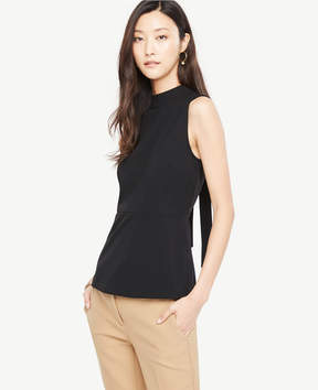 Ann Taylor Peplum Tie Back Top