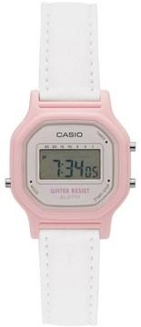 Casio Women's Casual Digital Watch, White/Pink