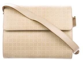 Salvatore Ferragamo Embossed Leather Flap Bag