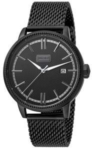 Just Cavalli Mens Black Watch With Black Dial.