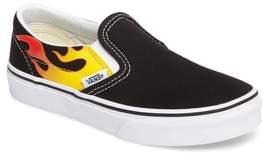Vans Toddler Boy's Flame Classic Slip-On Sneaker