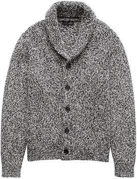Banana Republic Marled Cotton Shawl-Collar Cardigan Sweater