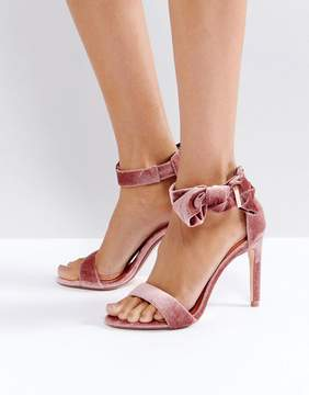 Ted Baker Torabel Bow Mink Velvet Heeled Sandals