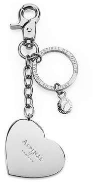 Aspinal of London Silver Plated Heart Handbag Charm Keyring