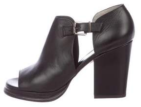 Robert Clergerie Clergerie Paris Leather Peep-Toe Booties