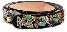 Alexander McQueen Embellished suede belt