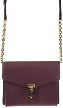 Burberry Grained Leather Shoulder Bag - BURGUNDY - STYLE