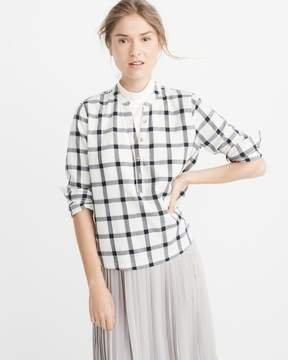 Abercrombie & Fitch Plaid Popover Shirt