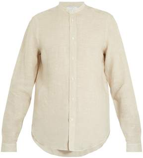 Boglioli Granddad-collar linen shirt