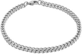 JCPenney FINE JEWELRY Mens Brushed Stainless Steel 9 22mm Foxtail Bracelet