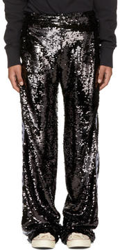 Faith Connexion Black Kappa Edition Sequin Trousers