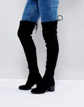 New Look Over the Knee Block Heeled Boot