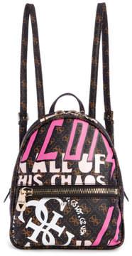 GUESS Urban Chic Logo-Print Small Backpack
