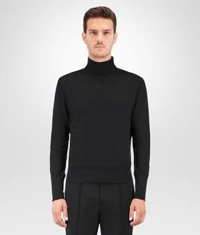 Bottega Veneta Nero Silk Cotton Jersey Turtleneck