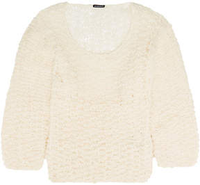 Ann Demeulemeester Oversized Open-knit Sweater - Ecru