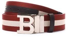 Bally Men's Red Canvas Belt.