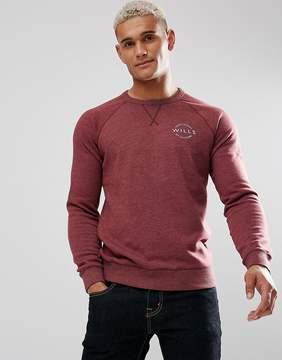 Jack Wills Bridgend Lightweight Sweatshirt In Damson