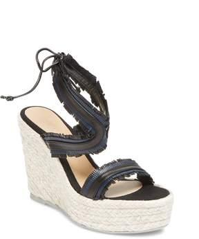 Manebi Women's Wedge Leather Sandal