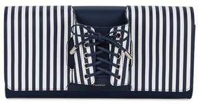 Perrin Paris Le Corset Striped Leather Clutch