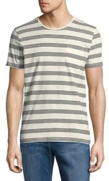 Selected Striped Cotton Crewneck Tee
