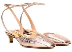 Rupert Sanderson Cornelia metallic leather sandals