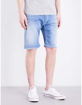 Replay Anbass mid-rise stretch-denim shorts