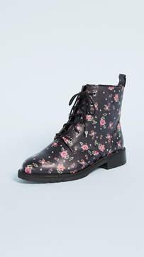 Rebecca Minkoff Gerry Floral Combat Boots