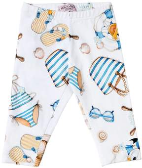 MonnaLisa Donald Duck Print Cotton Jersey Leggings