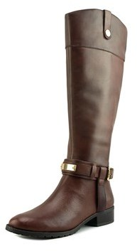 INC International Concepts Fabbaa Wide Calf Leather Knee High Boot.