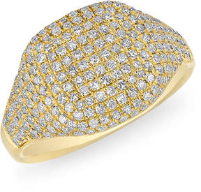 Anne Sisteron Cushion Pinkie Ring in Yellow Gold, Size 3