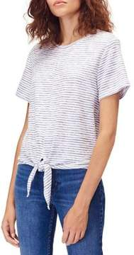 Calvin Klein Jeans Tied-Hem Stripe Top