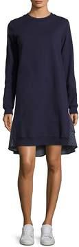 Clu Women's Ruffled Sweatshirt Cotton Dress